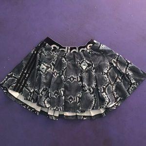 Adidas pleated snakeskin skirt
